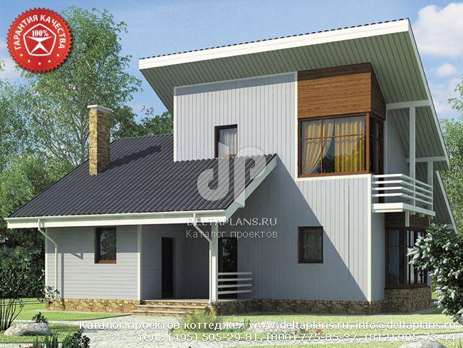 Каркасный дом. Проект № Y-126-1S