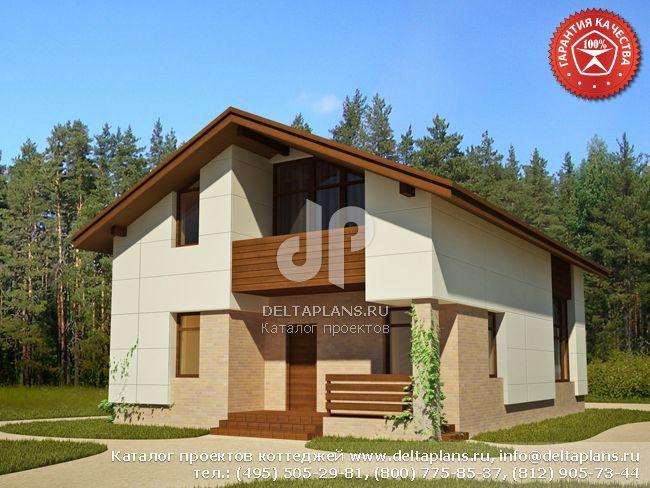 Каркасный дом. Проект № Y-143-1S