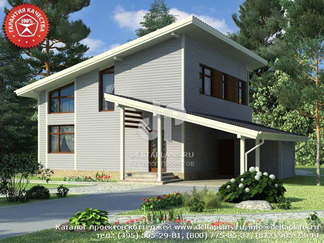 Каркасный дом. Проект № Y-151-1S
