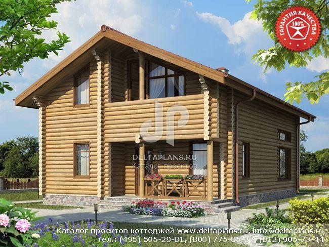 Деревянный дом. Проект № Y-156-1D