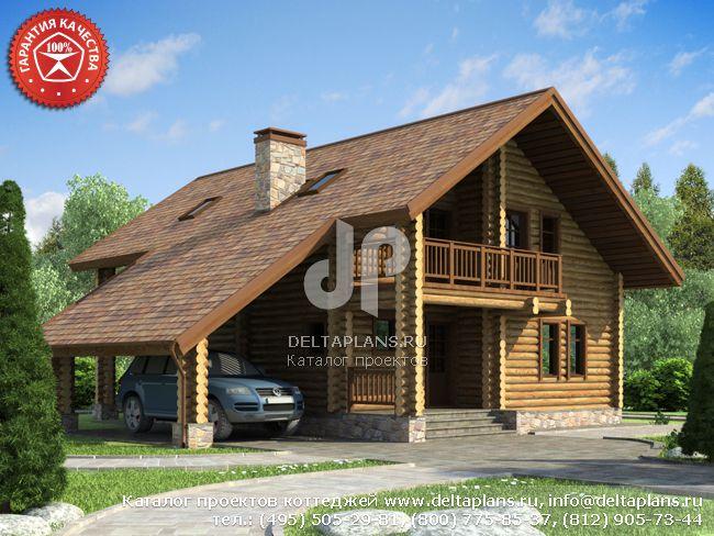 Деревянный дом. Проект № Y-196-1D