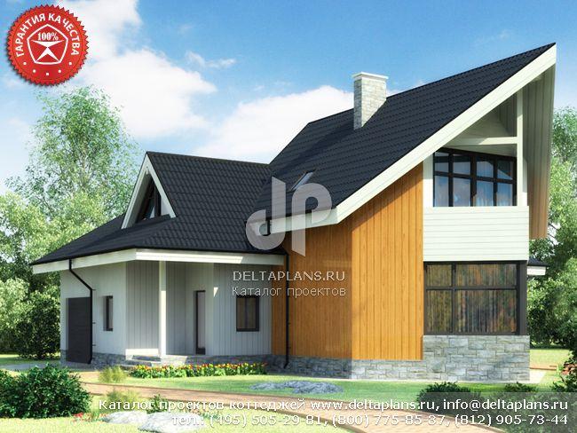 Деревянный дом. Проект № Y-219-1D