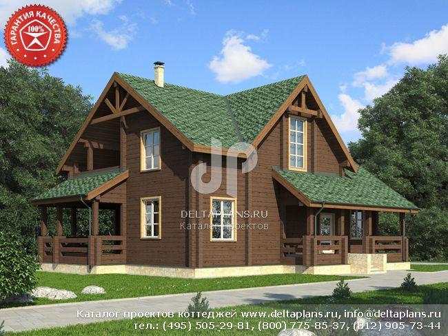 Деревянный дом. Проект № Y-261-1D
