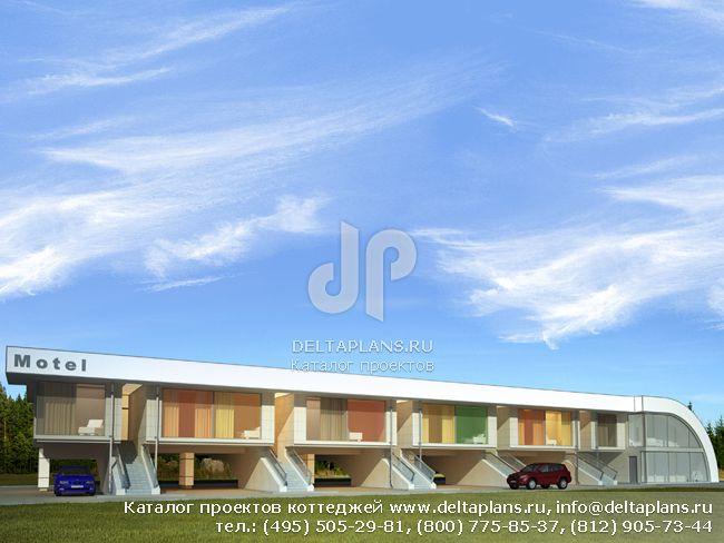 Пенобетонный дом. Проект № Z-807-1P